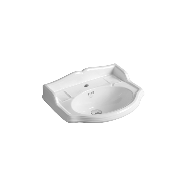 Washbasin 59 wall hung or on pedestal AR 814