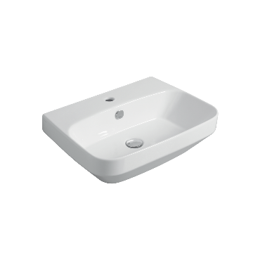 Counter top or wall hung washbasin 60 BB 10