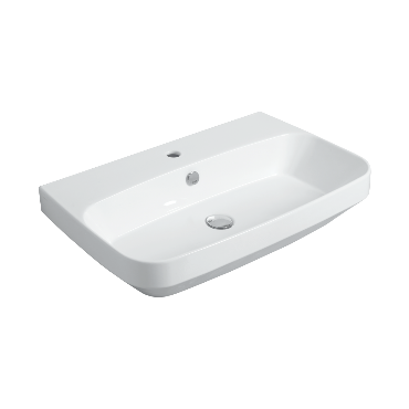 Counter top or wall hung Washbasin 80 BB 12