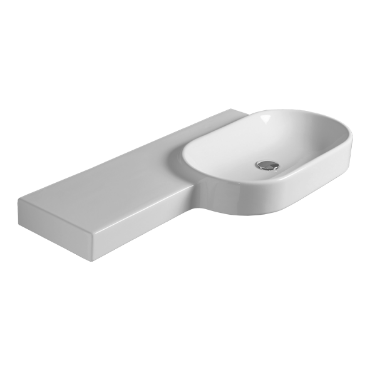 Oval wall hung washbasin 115 FL 22