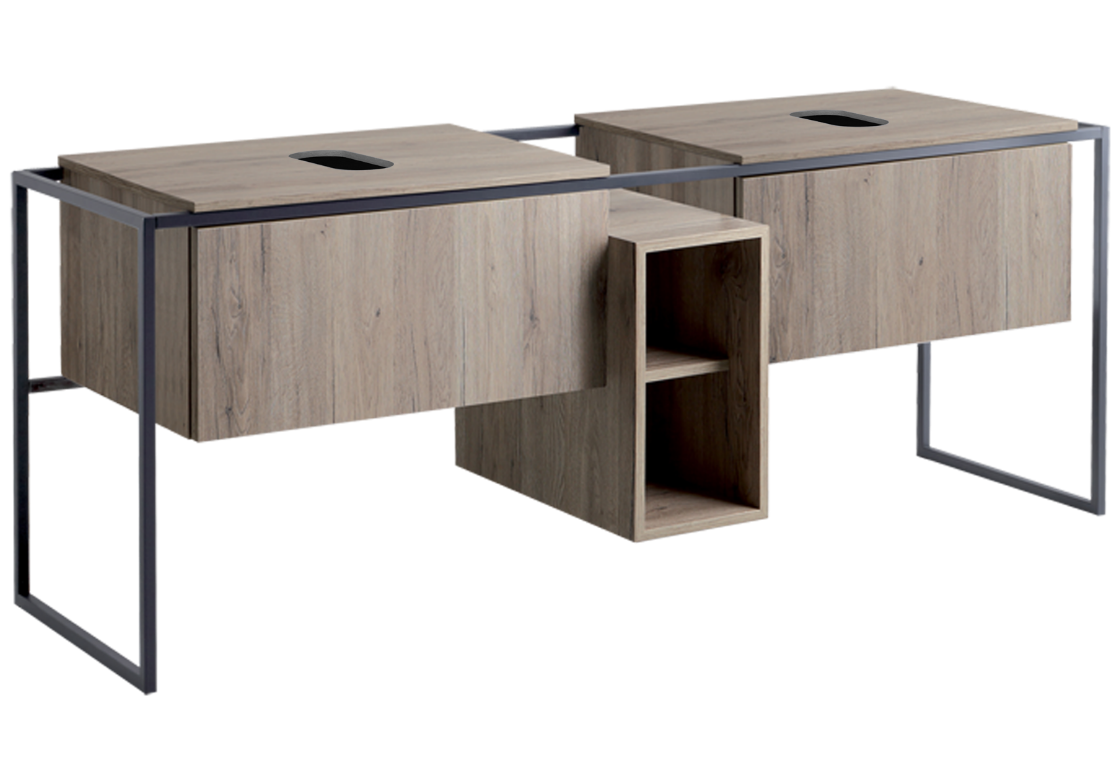 Structure for washbasin 181 - Dark Oak FM 2