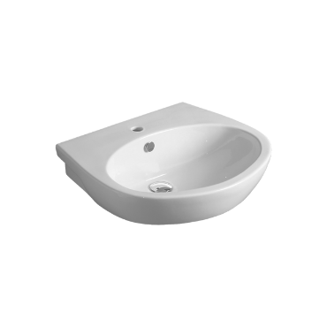 Wall hung or on pedestal Washbasin 65 LFT 05