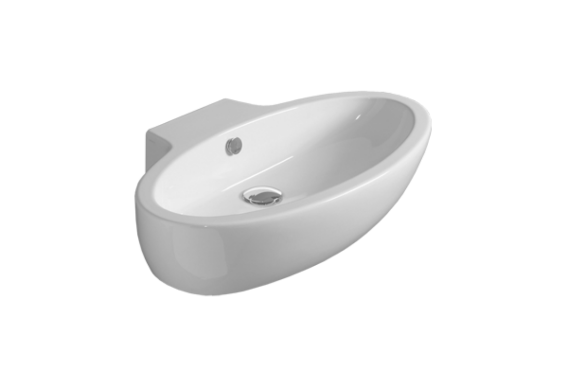 Counter top or wall hung washbasin 73 LFT 34
