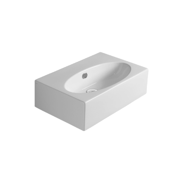 Counter top or wall hung washbasin 61 LFT 54