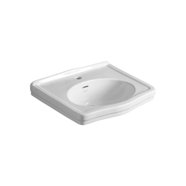 Washbasin 58 wall hung or on pedestal LO 914