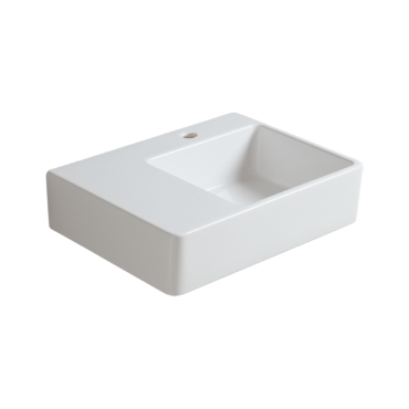 Wall hung  washbasin 60 with right side bowl QU 60D