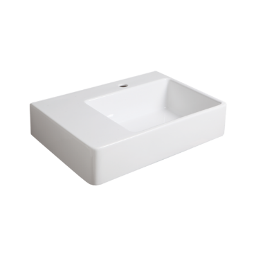 Wall hung washbasin 65 with right side bowl QU 65D