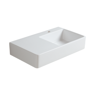 Wall hung washbasin 75 with right side bowl QU 75D