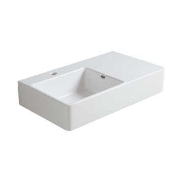 Wall hung washbasin 75 with left side bowl QU 75S