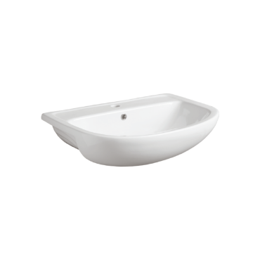 Semi-inset Washbasin 67 S 57