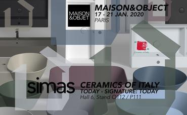 SIMAS is back at Maison&Objet with the latest collections of ceramics sanitary ware AGILE and WAVE
