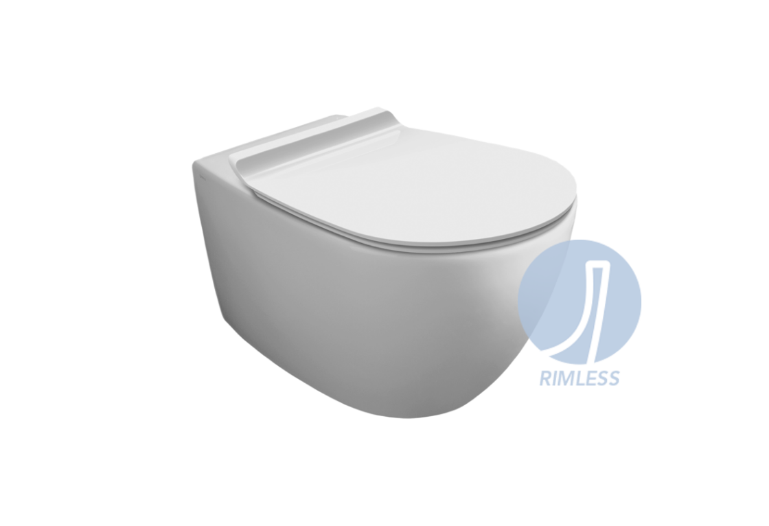 """Rimless"" wall hung WC VI 18"